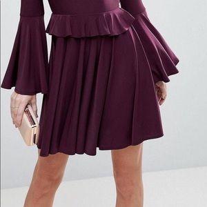 ASOS Dresses - Skinny Ruffle Open Back Mini Skater Dress